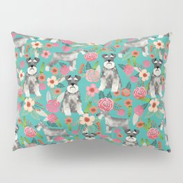 Schnauzer florals dog must have gifts for schnauzers pure breed Pillow Sham