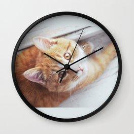 Cute cat Kristofferson Wall Clock