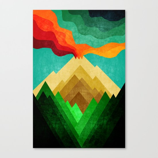 Vulcan Mountain Canvas Print