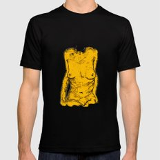 The Yellow Bits Mens Fitted Tee Black MEDIUM