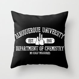 Respect the Chemistry (dark background) Throw Pillow