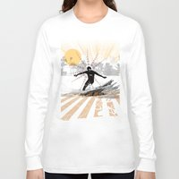 surfer Long Sleeve T-shirts featuring surfer by michael cheung