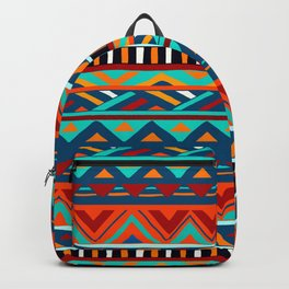 Affrican pattern, abstract geometric pattern Backpack