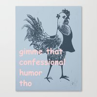 humor Canvas Prints featuring humor by botitta
