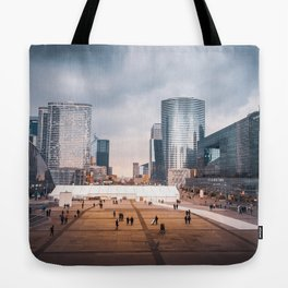 Modern French Cityscape Tote Bag