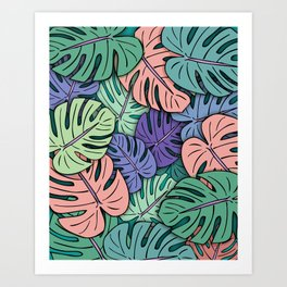 Monstera Leaves #8 Art Print
