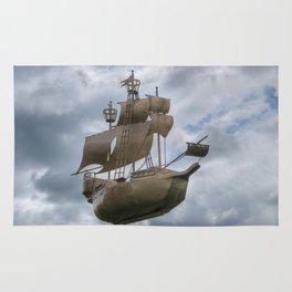 Sailing stormy skies Rug