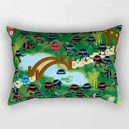 Ninja War Rectangular Pillow
