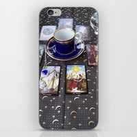 tarot iPhone & iPod Skins featuring Tarot tea by theedwardiangirl