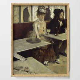 "Edgar Degas ""The Absinthe Drinker (Au Café, l'Absinthe)"" Serving Tray"