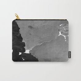 Xelli - abstract black and white minimal modern painting home decor dorm college canvas painting Carry-All Pouch