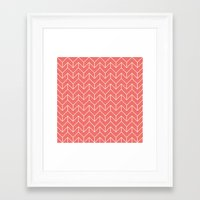 chevron Framed Art Prints featuring Chevron by Dizzy Moments