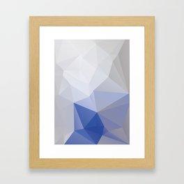 Bluemountain– modern polygram illustration Framed Art Print