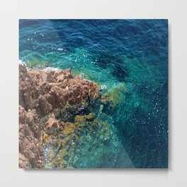 Seaside in Theoule-sur-Mer Metal Print
