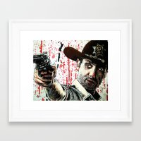 rick grimes Framed Art Prints featuring Rick Grimes by Chuck Hodi