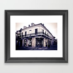 One Day on Rue Royale Framed Art Print