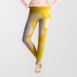 speckled marble | yellow Leggings