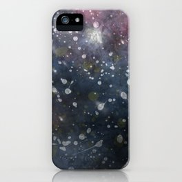 Splattered Stars iPhone Case