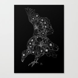 Midnight Anemone Lily Vulture Canvas Print
