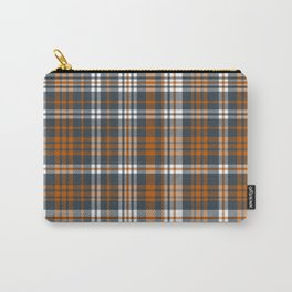 Texas orange and white university texans longhorns college football sports plaid Carry-All Pouch