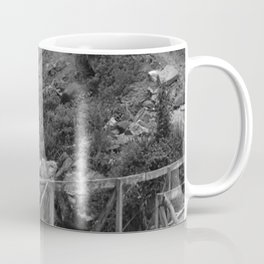 Alpine Bridge Adventure B&W Coffee Mug