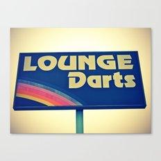 Lounge Darts sign Canvas Print