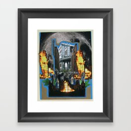 Burning Chair Framed Art Print