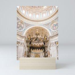 Rome 0002: Saint Peters Cathedral, San Pietro, Vatican City, Rome, Italy Mini Art Print