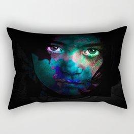 Colorful portrait Rectangular Pillow