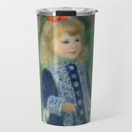 Girl with a Watering Can Travel Mug