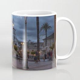 Sundown, Plaza Mayor Merida Spain Coffee Mug
