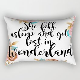 Lost in Wonderland Rectangular Pillow