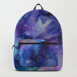Abstract Watercolor, Ink Prints, Indigo, Blue, Purple Backpack