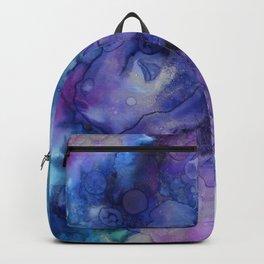 Abstract Watercolor Coastal, Indigo, Blue, Purple Backpack