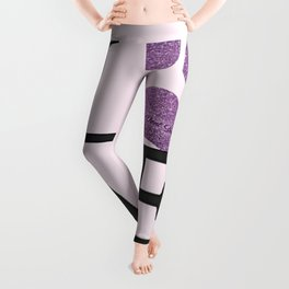 Love is a Four Letter Word - purple paw Leggings