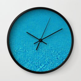 turquoise water love Wall Clock
