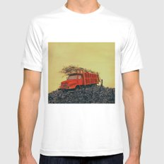 sugar cane and truck on fire White Mens Fitted Tee MEDIUM