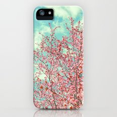 Pink flowers in the early morning iPhone (5, 5s) Slim Case
