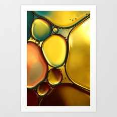 Oil & Water Abstract II Art Print