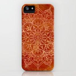 Orange Mandala iPhone Case