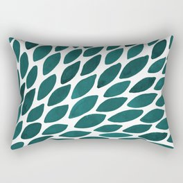Watercolor brush strokes burst - teal Rectangular Pillow