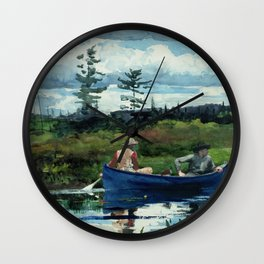 Winslow Homer - The Blue Boat, 1892 Wall Clock