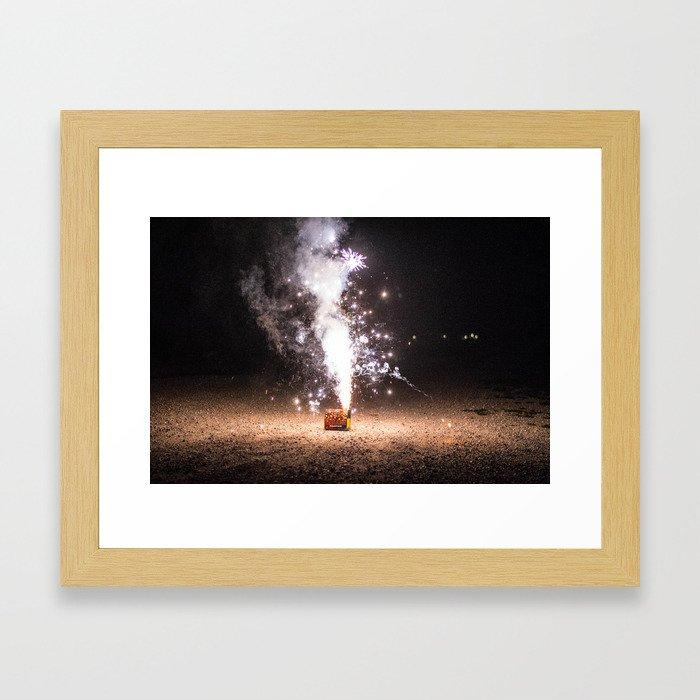 Firecracker Framed Art Print