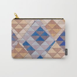 Triangle Pattern No. 13 Shifting Purple and Ochre Carry-All Pouch
