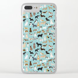Dogs pattern print must have gifts for dog person mint dog breeds Clear iPhone Case