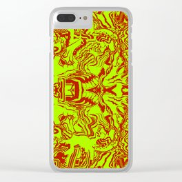 Christmas Face Clear iPhone Case
