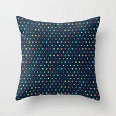 Color Polka Throw Pillow