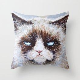 Tard the cat Throw Pillow