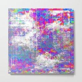 Futuristic Digtal Glitch Aesthetic - AI Generated Modern Art Metal Print