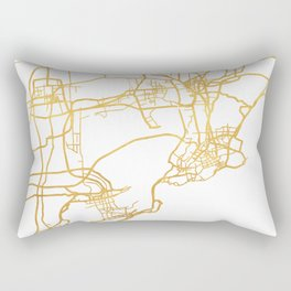 QINGDAO CHINA CITY STREET MAP ART Rectangular Pillow